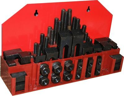 52 pc CLAMPING KIT FOR MILLING MACHINE METRIC M10 STUD