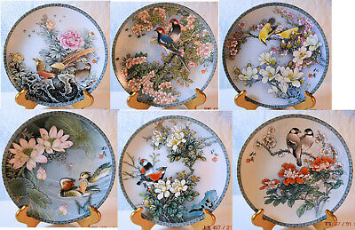 """Imperial Cheng Te Chen """"Blessings from a Chinese Garden"""" Complete Set Plates"""