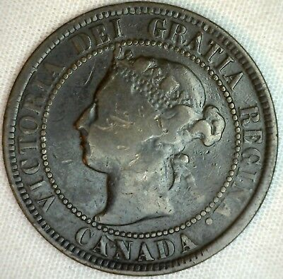 1898 Copper Canadian Large Cent Coin 1-Cent Canada  K7