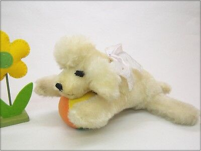 STEIFF alter FLOPPY SNOBBY PUDEL HUND Wimpern old sleeping POODLE with eyelashes