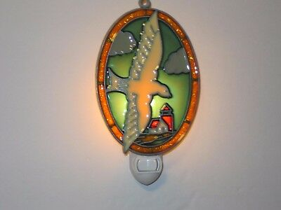 Beautiful Flying Seagull Stained Glass Style Night Light