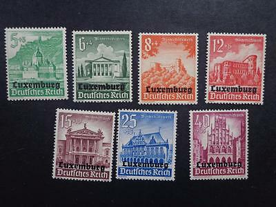 Luxembourg, German Occupation . 1940, Winterhelp Issue SCott no. NB1-9 MH