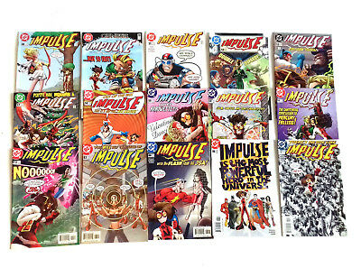 DC Comics IMPULSE - FLASH related Job lot set of 15 issues, justice, batman