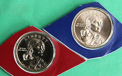 2014 P and D Sacagawea Dollar BU 2 Cello Coins from US Mint Set Native American