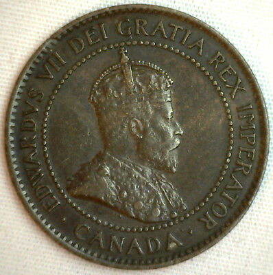 1903 Copper Canadian Large Cent Coin 1-Cent Canada XF #26