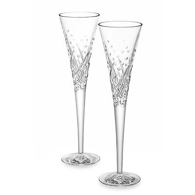 New Waterford Wishes Happy Celebrations Crystal Toasting Flutes (Set Of 2)
