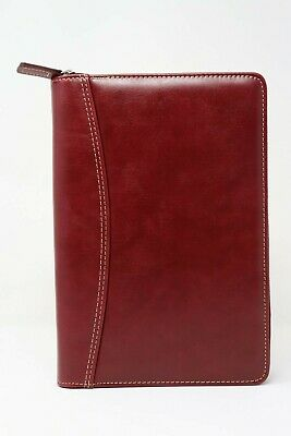 NEW Franklin Covey Classic Vinyl Red 5.5 x 8.5 inches Wire-Bound with Zipper