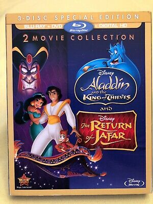 Aladdin: King of Thieves / Return of Jafar (Blu-ray+DVD+Digital) with Slip Cover