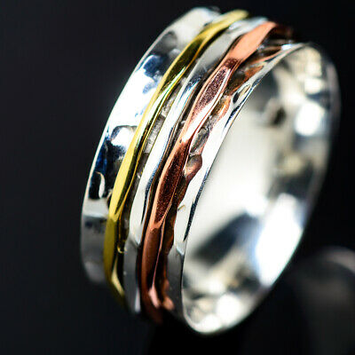 Fine Rings Meditation Spinner 925 Sterling Silver Ring Size 13 Ana Co Jewelry R938628 Jewelry & Watches