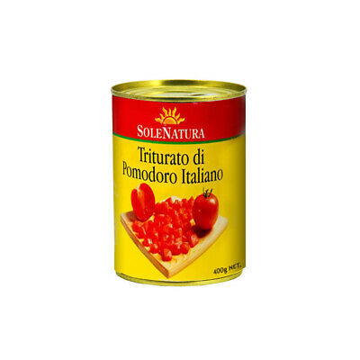 SOLE NATURA DICED TOMATO ITALIAN PEEL QUALITY TOMATOES FLAVOURING COOKING 400g