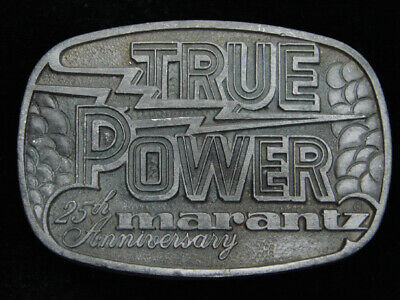 QI09167 VINTAGE 1970s TRUE POWER **MARANTZ STEREO** 25th ANNIVERSARY BELT BUCKLE