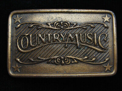 QA09117 VINTAGE 1970s **COUNTRY MUSIC** COMMEMORATIVE BRASSTONE BELT BUCKLE