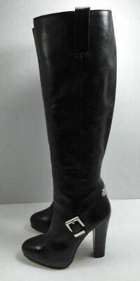 02908a61cd6af Michael Kors Women s Black Leather Knee High Fashion Boots Shoe Size 5 M NEW !