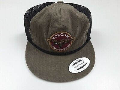 7ed5b55c109e6d Volcom Stone Carrier Cheese Corduroy Mesh Olive Black Hat Cap Snapback