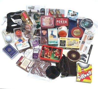 Junk Drawer Mix Lot Golf Cards Locks Tag Craft Knob Collectible New Used Vintage