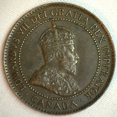 1902 Copper Canadian Large Cent Coin 1-Cent Canada YG #1