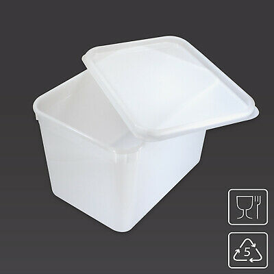 4 Litre Rectangular Ice Cream Container / Food Storage Tub Kitchen Box with LID
