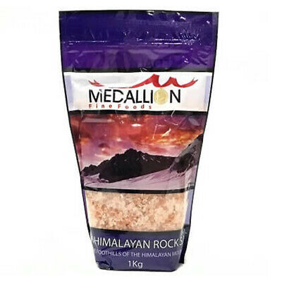 MEDALLION PINK HIMALAYAN ROCK TABLE SALT EDIBLE COOKING CONDIMENTS SPICES 1kg