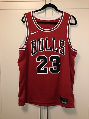 check out 3e0da e1f82 MENS NIKE MICHEAL Jordan Icon Edition Swingman Jersey Red Sz 52 XL