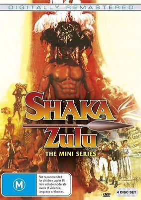 Shaka Zulu The Mini Series (DVD, 2017, 4-Disc Set) New And Sealed
