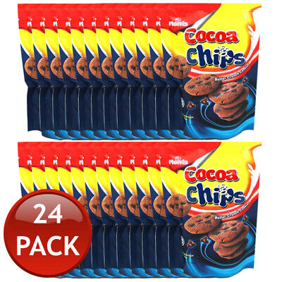 24 x MORRIS KING COCOA CHIPS BUTTER CRUNCH COOKIES CHOCOLATE CHOCO SNACKS 120g