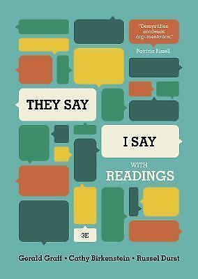 They Say I Say, 3rd edition with Readings, 9780393937510