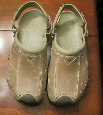 31eebd0dacdf Crocs Swiftwater Leather Clog Brown Rubber and Leather Men s US Size 13