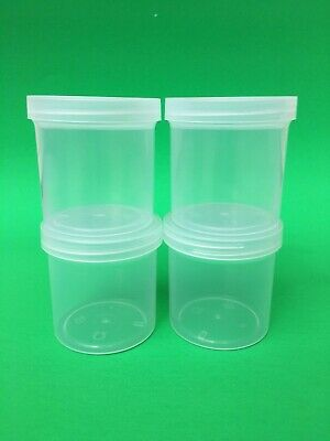 6 Pack 6 Slime Storage Jars 4 Oz Clear Containers ⭐️⭐️⭐⭐️⭐️ 100% Original