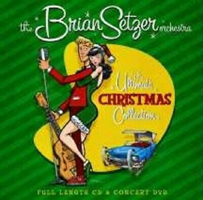 """Brian Setzter """"The Ultimate Christmas..."""" Cd+Dvd New+"""