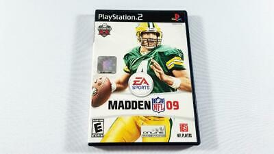 MADDEN NFL 09 (Sony PlayStation 2, 2008) PS2 Football Video Game EA