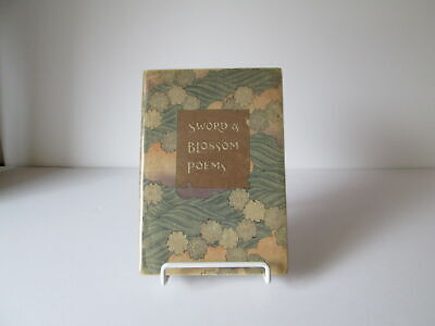 1910 Sword & Blossom Poems from Japanese ART BOOK Hand Colored Block Print WOW
