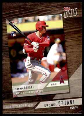 2019 Topps Series 1 2018 Topps Now Review Shohei Ohtani Los Angeles Angels #TN-3