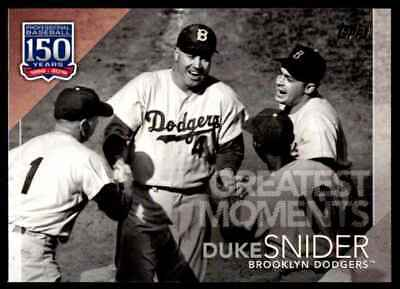 2019 Topps Series 1 Greatest Moments Duke Snider Brooklyn Dodgers #150-40