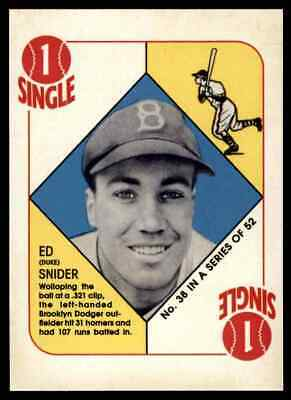 2019 Topps Series 1 Iconic Card Reprints Duke Snider Brooklyn Dodgers #ICR-40