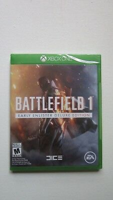 Battlefield 1 Early Enlister Deluxe Edition Xbox One Brand New Sealed
