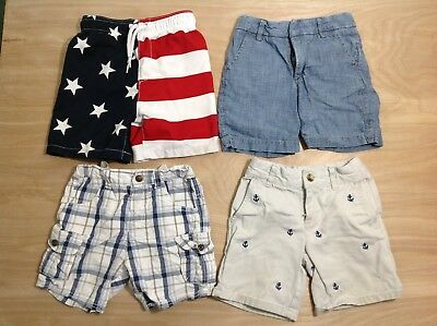 3 Pairs Boys Shorts and 1 Pair of Swim Trunks 24 mths, 2T Toddler 2 years