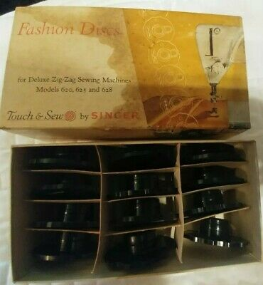 12 Fashion Discs Singer Deluxe Zig-Zag Sewing Machines 620 625 628 Touch & Sew
