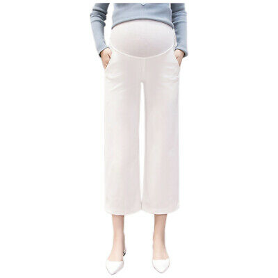 Maternity Care Belly Vertical Wide Leg Pants Loose Trousers for Pregnant Women