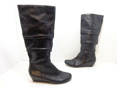 73312a8b6b0 NIB MOUNTAIN SOLE Women's Frida Tall Slouch Boots Black Faux Leather ...