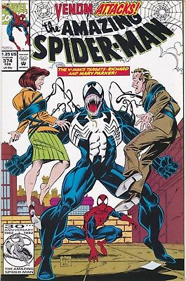 The Amazing Spider-Man #374 (Feb 1993, Marvel) App. of Venom; NM- (9.2)