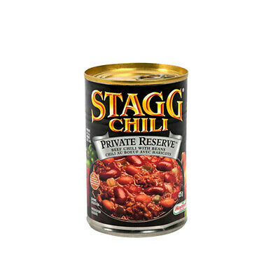 STAGG PRIVATE RESERVE CHILI WITH BEANS GREEN CHILES SPICY HIGH QUALITY FOOD 425g