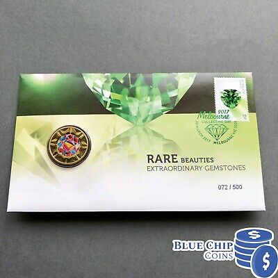 2017 $1 Rare Beauties Extraordinary Gemstones Flourite Coin PNC