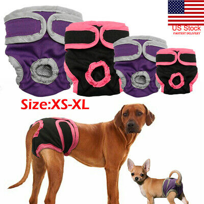 US Female Dog Shorts Puppy Physiological Pant Diaper Pet Underwear For Girl Dogs