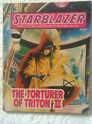 """Starblazer #50 """"THE TORTURER OF TRITON 2"""" published by DC Thomson dated 1981"""
