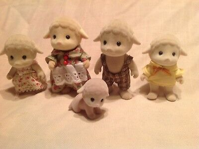 2Pcs Sylvanian Families sheep Family Calico Critters baby girl doll cute toy