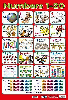 A2 Numbers 1-20 Poster/ educational / learning / maths / counting / numeracy