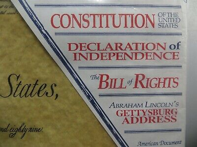 US Historical Document Reproductions - Constitution, Bill of Rights, Declaration