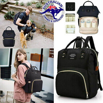 Luxury Multifunctional Baby Diaper Nappy Backpack Waterproof Mummy Changing Bag.