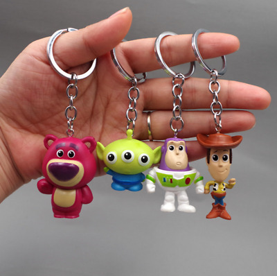 4pcs / Lot Toy Story Action Figure Doll Pixar Alien Woody keychain Toys Gift