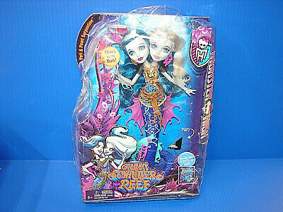 Monster High Great Scarrier Reef Peri & Pearl Serpintine Doll * DAMAGED BOX * ^